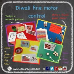 Here are some easy and fun Diwali fine motor activities – with a little help fro… - Outfit-Celebration-Knitting-DIY Diwali Activities, Eyfs Activities, Nursery Activities, Motor Activities, Infant Activities, Activities For Kids, Diwali For Kids, Diwali Craft, Diwali Celebration