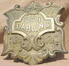 Our Darling Antique Coffin Plaque