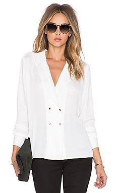 L'Academie The Military Blouse in Ivory