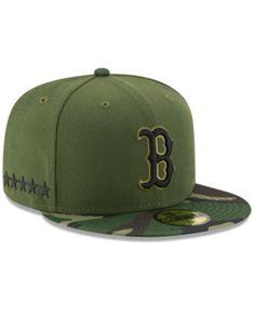 New Era Boston Red Sox Memorial Day 59FIFTY Cap - Green 7 1 8 Boston 02090360a2