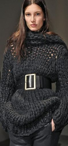 Knitted and belted LBV ♥✤ | KeepSmiling | BeStayClassy