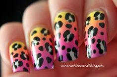 Gotta love the leopard print nail art...