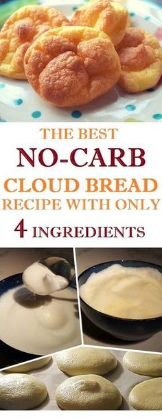 There is a bread that doesn't contain gluten, carbs, or sugar. This bread is known as the Cloud Bread. You require these straightforward ingredients. Keto Foods, Ketogenic Recipes, Keto Snacks, No Carb Recipes, Diabetic Recipes, Cooking Recipes, Healthy Recipes, Easy Recipes, No Carb Cloud Bread