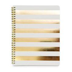 gold stripe notebook. #celebrateeveryday