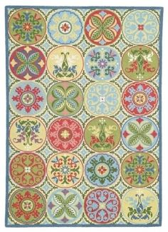 gorgeous rug! I love the colors and the traditional/shabby chic-ish-ness of it.
