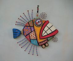 Mosaic Fish MADE to ORDER Original Found Object by FigJamStudio