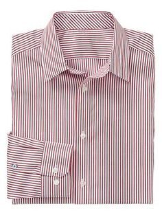 Non-Iron striped shirt (slim fit) | Gap
