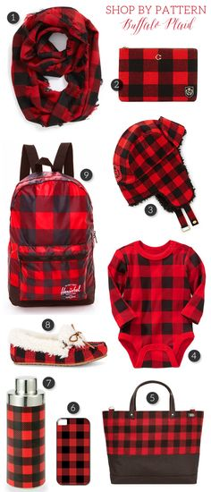 A collection of chic buffalo plaid accessories - visit The Sweetest Occasion for shopping info, links and more! Buffalo Print, Buffalo Plaid, Buffalo Check, Plaid Fashion, Winter Fashion, Plaid Christmas, Christmas Ideas, Holiday Ideas, Christmas Decor