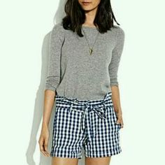 Madewell Psh, who doesn't love these shorts? #checkered