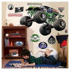 Monster Jam Giant Grave Digger Wall Decals : Target