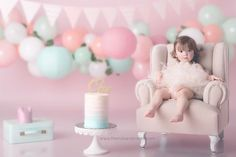 """""""Mi piace"""": 102, commenti: 3 - The Milk And Cream (@themilkandcream) su Instagram: """"Así celebró EMMA su cumpleaños #1  Los smash cake más bonitos los hacemos en #themilkandcream…"""""""