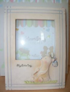 HEART STRING TEDDIES MY LITTLE BOY PICTURE FRAME SEAGULL STUDIOS 3.5 X 3.5 NIB 20% OFF!! $19.99