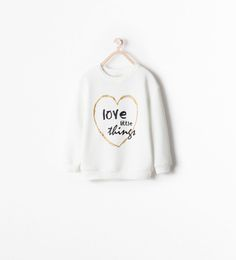 Image 1 of TEXT AND HEART SWEATSHIRT from Zara