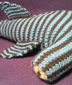 Large Hammerhead Shark Toy Knit PATTERN. via Etsy.