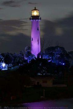 Purple lighthouse