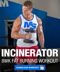 The Fat Incinerator 8 Week Fat Burning Workout is part of health-fitness - Incinerate unwanted body fat with this new 8 week workout program This fat loss workout utilizes tactics to maximize fat loss while preserving muscle Push Pull Workout, Shred Workout, Month Workout, Workout Challenge, Ripped Workout, Workout Splits, Workout Routine For Men, Gym Workout Tips, Workout Schedule