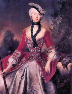 """Pesne, """"Sophie Marie Grafin Voss,"""" 1746 Sophie Marie von Pannwitz,daughter of General von Pannwitz;"""