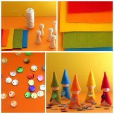 Daily Colours : DIY - Rainbow Gnomes Rainbow gnome tutorial