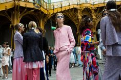 The Grand Palais was transformed into a life-size Chanel Airlines terminal for the spring 2016 collection.