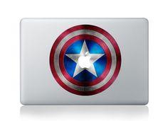 Captain America Shield - Mac Decal Macbook Stickers Macbook Decals Apple Decal  Macbook Pro Sticker Macbook Air  iPad2 Decals