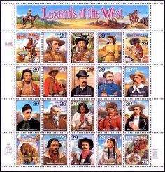 1994 29c Legends of the West, Sheet of 20 Scott 2869 Mint F/VF NH