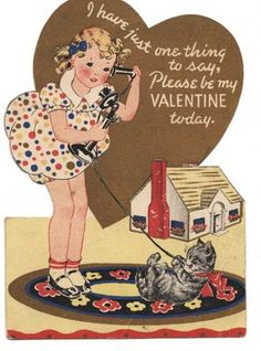 One of my valentines from the early 1940s