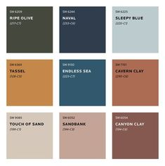 Colour Trends for 2020 What colours will we be seeing next year? See Sherwin Williams predicted colour trends for Plus sneak peek at the moodboard for S/Y Lazy Kingfisher. Trending Paint Colors, Paint Colors For Home, House Colors, Sand Color Paint, Bathroom Paint Colours, Paint Colours For Bedrooms, Terracotta Paint Color, Copper Paint Colors, Copper Colour Scheme