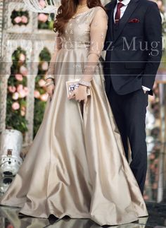 At an engagement – Mode Outfits Simple Pakistani Dresses, Pakistani Party Wear Dresses, Shadi Dresses, Pakistani Wedding Outfits, Wedding Dresses For Girls, Pakistani Dress Design, Indian Dresses, Fancy Dress Design, Stylish Dress Designs