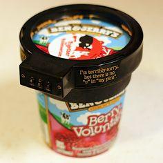 Para os ladrões de geladeira (de madrugada!) BEN & JERRY'S LANÇA CADEADO PARA SORVETES