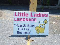 Little Ladies Lemonade Stand;   Columbia, SC;   24x36 inch Yard Sign