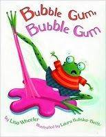 Book, Bubble Gum, Bubble Gum; Kids can act out the story as a whole class with pink fabric as the GUM