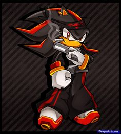 How to Draw Gangster Shadow, Shadow the Hedgehog, Step by Step ...