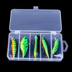 11.00$  Watch here - http://alifuj.shopchina.info/go.php?t=32719925611 - Super Hot ! 5 pcs Green Minnwo Pencil Popper Vib Crankbait Plastic Hard Bait Fishing Lure With Box  #buyonline