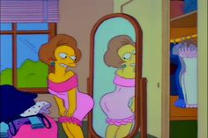 the simpsons e Edna immagine su We Heart It Simpsons Cartoon, Cartoon Icons, Cartoon Memes, Cartoon Art, Bart Simpson, Los Simsons, Cartoon Profile Pictures, Mood Pics, Vintage Cartoon