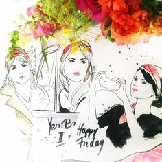 It's friday! Or i would Call it #happyheadbandfriday !! 💐👏🌸 #fashionillustration #fashionillustrator #fashion_illustration #fashion #fashionblogger #fashionbloggers #styleblog #styleblogger #stylebloggers #germanblogger #flowers #flowerinspiration #bloomon #fashion #fashionistas #fashionaddict #beautyblog #beautyblogger #headband #headbands #beautiful #prettythings #friday #art #artwork #illustration #drawing #fashionsketch
