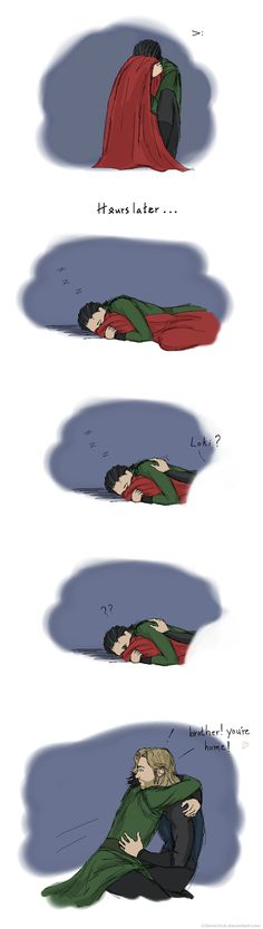Thor and Loki. Loki being sweet :) Loki Thor, Loki Laufeyson, Tom Hiddleston Loki, The Avengers, Marvel Jokes, Marvel Funny, Marvel Dc, Marvel Universe, Marvel Tumblr