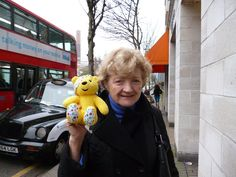 Julia McKenzie, star of Agatha Christie's Miss Marple, supports the Paul Strank Roofing Photothon with Pudsey! #cin #pudsey #pudseyphotothon