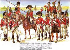 British forces in Egypt, 1800-1801 by P. Courcelle.  Double click on image to ENLARGE.