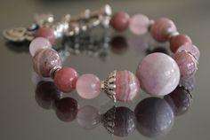 The Power of Love...Heart Chakra Bracelet with Turkish Evil Eye Charm and Genuine Gemstones... by iyildiz, $32.00