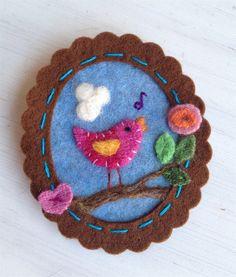 felted brooch   Flickr - Photo Sharing!