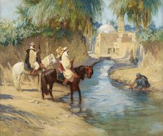 Peinture Algérie - Frederick Arthur Bridgman - Return from the Hunt