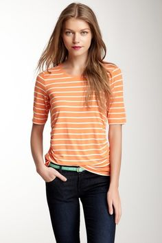 Vince Camuto Elbow Sleeve Ruched Top