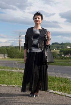 Lena's Modeblog: Lederjacke & Tüllrock