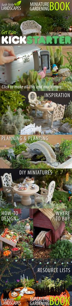 On KICKSTARTER: The Lush Little Landscapes book shows you how to create inspiring miniature gardens, whether you're a beginner or expert. Great rewards that will get you going on your miniature garden right away!