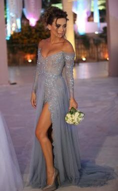 Grey Tulle Sexy Evening Dress, Long Evening Dress #prom #promdress #dress #eveningdress #evening #fashion #love #shopping #art #dress #women #mermaid #SEXY #SexyGirl #PromDresses