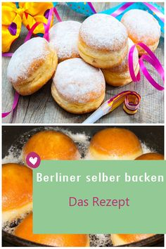Berliner selber backen: Das Rezept Whether Berliners, donuts or pancakes: Delicious are the fried balls with jam filling always. Indian Fast Food, Wheat Intolerance, Baked Doughnuts, Low Carb Sweeteners, Sweet Pastries, Baked Goods, Vegetarian Recipes, Keto, Sweets