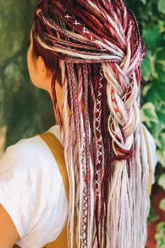 Dreadlock Hairstyles, Braided Hairstyles, Pretty Hairstyles, Everyday Hairstyles, Vintage Hairstyles, Wedding Hairstyles, Dread Braids, Braided Dreadlocks, Blonde Dreadlocks