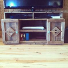 Rustic reclaimed wood entertainment center -  Reclaiming America $550