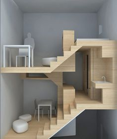 Ok May not be able to be transported on wheels cos of the height, but still an amazing use of the vertical in a small footprint -  -  To connect with us, and our community of people from Australia and around the world, learning how to live large in small places, visit us at www.Facebook.com/TinyHousesAustralia