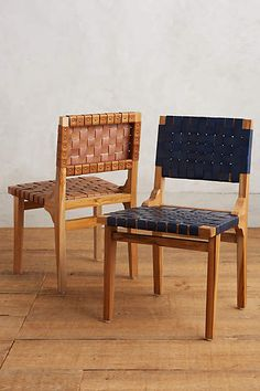 Leather Loom Dining Chair - anthropologie.com